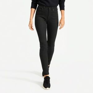 EVERLANE High Rise Slim Straight Button Fly Jeans